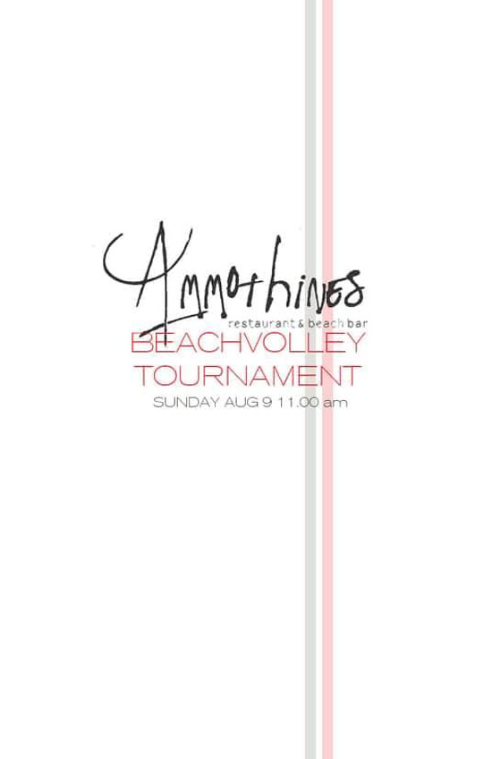 Beach Volley Tournament- Ammothines - 4 Thalasses - Beach bar - Petrochori - Messinia